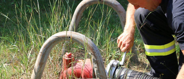 Brunnen und Saugleitung